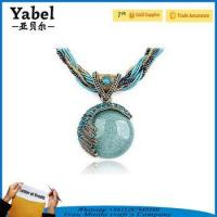 China Latest design beads necklace natural stone jewelry emerald stone necklace on sale