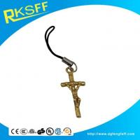 Buy cheap Zinc Alloy Cross Mobile Phone Hanging Ornament from wholesalers