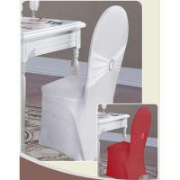 China Knit Fabric Chair Cover With Tie Back on sale