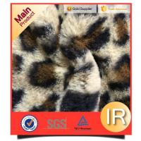 China Toy Fabric 100% Polyester Faux Rabbit Fur Animal Print Plush Fabric For Toys Or Pocket on sale
