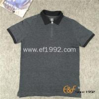 Buy cheap Polo Collar Short Sleeves Men Sweater with Zipper from wholesalers