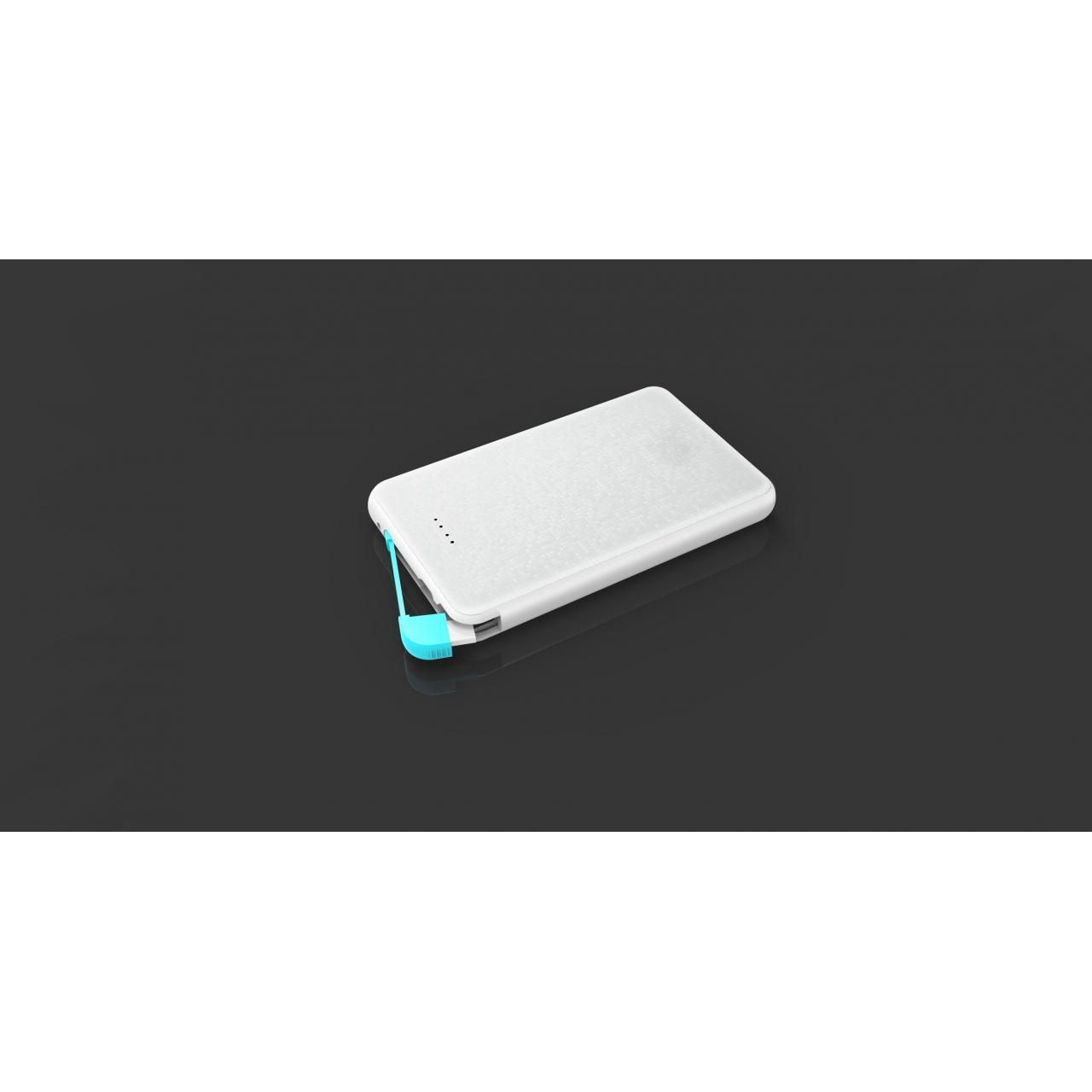 Buy cheap Hot sale ultra slim credit card 5000 mah power bank with build in cable PB H-2 from wholesalers