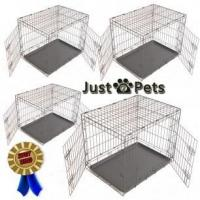 Buy cheap Pets SMALL - MEDIUM - LARGE or EXTRA LARGE DOG PUPPY PORTABLE METAL TRAINING CARRY CAGE CRATE from wholesalers