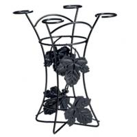 Buy cheap Metal Wine Glass Holder With Black Painting from wholesalers