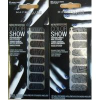 ASTOR MAYBELLINE COLOR SHOW FASHION NAIL STICKERS x 6 Manufactures