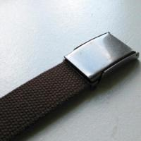 China Brown Pre-Fabricated Belt Blank with Military Cam Buckle on sale