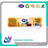 Custom design shaped paper material frozen food packagings sticker labels on roll Manufactures