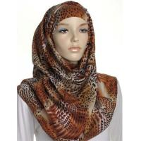 Wholesale Beige Animal Print Large Maxi Hijab from china suppliers
