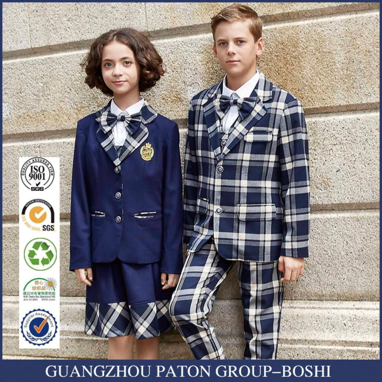 Wholesale New design school uniform custom student suit from china suppliers