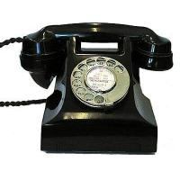 Wholesale Culture 1950s 300-series Black Bakelite Telephone from china suppliers