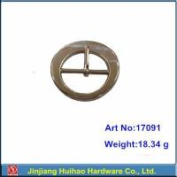 comely silver circle pin buckle for garments 17091