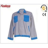 Blue and grey color combination workwear jacket,Hot sale mens working clothes price Manufactures