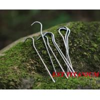 Buy cheap Titanium Alloy Ti Tent Peg Nail Outdoor Camping Accessory Tent Stake Bend Head Diameter 3.0mm from wholesalers