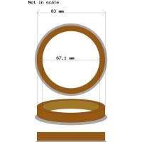 Buy cheap Hub centric rings 83.0 - 67.1 Plastic from wholesalers