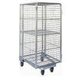 Folding Nestable Four Sides 4 Sided Full Security Wire Mesh Roll Cage