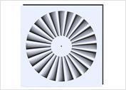 Buy cheap Diffusers Radial Vane Swirl Diffuser from wholesalers