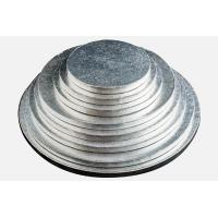 Wholesale round silver thick corrugated cake drums from china suppliers
