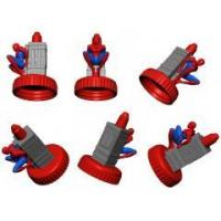 Buy cheap Figures gifts maker Customize Creative design Spider-Man plastic bottle cap from wholesalers