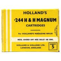 Wholesale Holland & Holland .244 H&H Magnum Cartridges Full Correct 1 Piece Box Quantity 5 from china suppliers