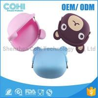 Fashionable animal waterproof rubber silicon bear shaped coin purse