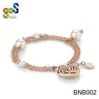 Nice brass bracelets for lady use in good quality rose gold plated Manufactures