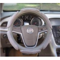 Buy cheap Sport Warm Soft Suede Breathable Foam Grip Anti-Strain Slip Sweat Steering Wheel Cover 15 30CM Gray from wholesalers