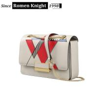 Buy cheap 2017 Fashion customized chain leather bag women saddle bag from wholesalers