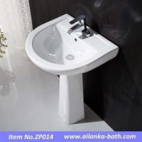 Buy cheap Discount pedestal basin bathroom sink with stand from wholesalers