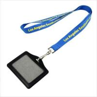 Buy cheap polyester black lanyard with zipper pouch from wholesalers