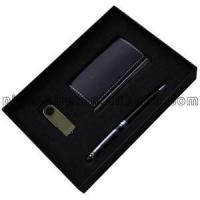 Buy cheap Business Card Holder With Pen And Usb Gift Set from wholesalers