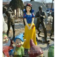 Buy cheap Huge Varnished Fiberglass Snow White and Dwarf Figure Sculptures from wholesalers