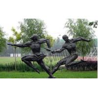 Buy cheap Outer Exercising Bronze Casting Figure Statues for School Decoration from wholesalers