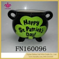 Wholesale Happy St . Patrick's Day Candy Sealed Cans Box Shamrocks Sugar Tea Ceramic Jar Container from china suppliers