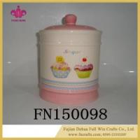 Buy cheap Wholesale Ceramic Cookie Jar with Lid Seal for Sublimation from wholesalers