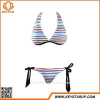 Buy cheap China Bikini Manufacturers Women Sexy Mature Bikini Hot Girls Bikini Stripe Swimwear from wholesalers