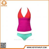 Buy cheap Bulk Women Swimwear Constrast Color Sexy Tankini Patchwork Cheap Swimsuit from wholesalers