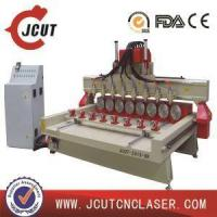 China china JCUT-2415-8R 4th Axis Wood Engraving CNC Router with Eight Heads and Rotary Axis Machine on sale