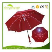 Buy cheap 23 Inch Regular Fiberglass and LED Ribs Model Classic LED Handle Umbrella in Night from wholesalers
