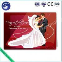 Wholesale Customized Design 3D PP Lenticular Wedding Card Greeting Card from china suppliers