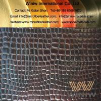 Buy cheap PU Micro Fiber Stamping and Pressed Leather from wholesalers