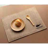 Buy cheap 20*20cm PE Waterproof Jute Coaster Jute Table Mats Burlap Cup Mats with Lace Decoration from wholesalers