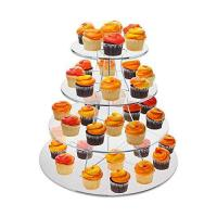 Buy cheap 8 Inch Tier Clear Acrylic Scalloped Edge Cake Display Cupcake Centerpiece Stand Riser from wholesalers