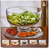 Buy cheap Large Cake Plate. Salad Bowl and Cake Stand. 6-in-1 Cake Dome made of durable acrylic. from wholesalers