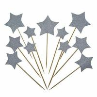 Buy cheap Bilipala Gold Star Cake Cupcake Decorations Toppers Picks Supplies, Appetizer Picks, 24 Counting from wholesalers