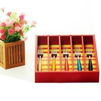 Buy cheap wooden cutlery organizer tray from wholesalers