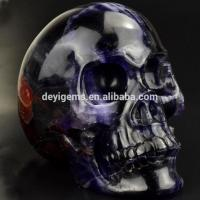 Buy cheap Hand Carving Fluorite Craft Skull Head for Sale or Decoration from wholesalers