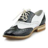 Buy cheap Fangsto Women's Top Grain Leather Brogue Saddles Oxfords 1034 from wholesalers