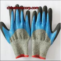 Nitrile dipped rubber coated gloves