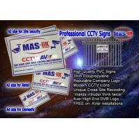 Buy cheap MAS CCTV Security Sign A4 Protect your home or business from wholesalers