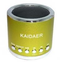 Wholesale Kaidaer MP3 Player and Mini Speaker For iPod iPhone and Cell Phone - Green Color from china suppliers